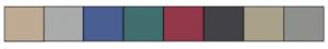 Kleuren palet kasten en interieur